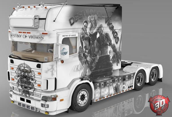 3D Scania 164L 580 V8 Destiny Of Vikings