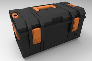 3D detailed toolbox model