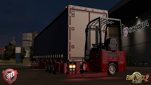 ETS2 Curtain Forklift Trailer Model