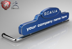 3D Scania LedBoard Model