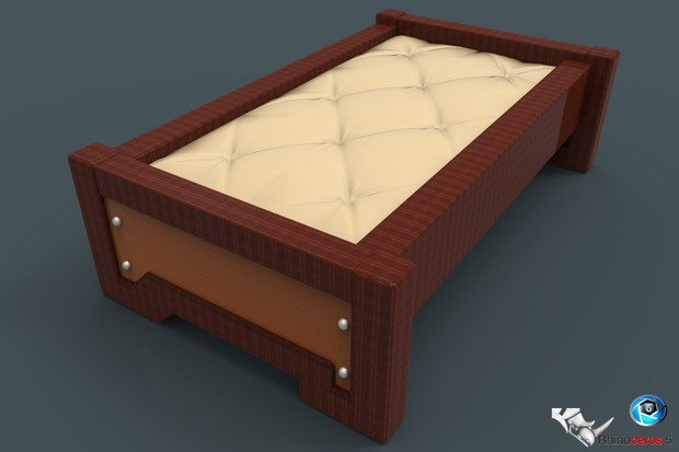 3D Table with Leather