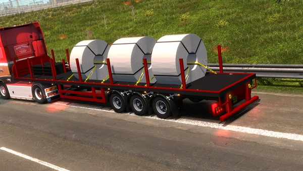 ETS2 1.34.xCoil Transport Trailer Loaded