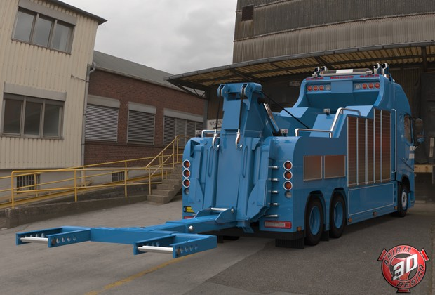 3D Volvo FH13 Wrecker (Without Trailer)
