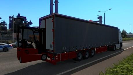 ETS2 1.35.x Curtain Forklift Trailer Model