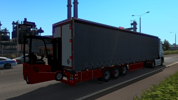 ETS2 1.35.x Curtain Forklift Trailer Model