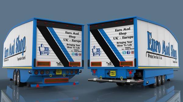 3D Aerodynamic U.K. type FRC trailer pack