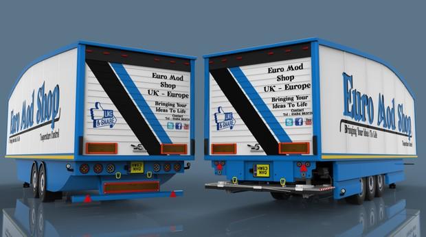 Aerodynamic U.K. type FRC trailer pack
