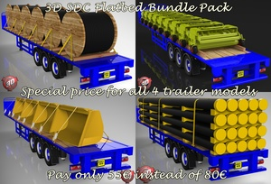 3D SDC Flatbed Bundle Pack Offer - Discounted More !!