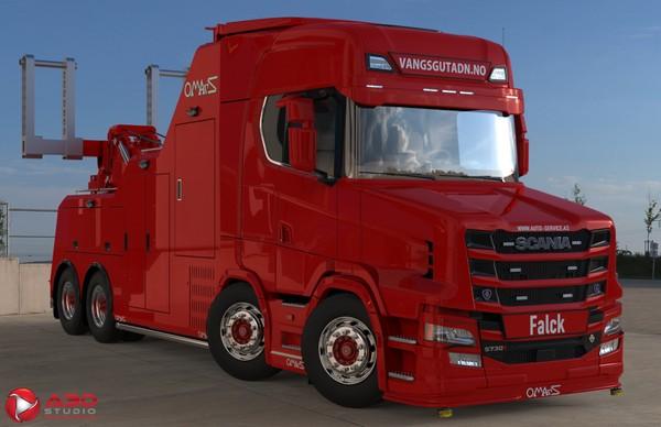 3D Scania S730T Wrecker Omars