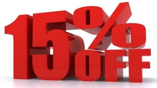 15% Discount Code