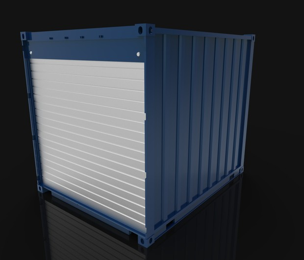 3D container 10ft size general model