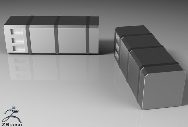3D Squared Chromed Fuel Tanks Pack