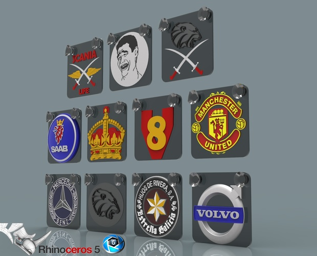 3D mini glass plates with logos