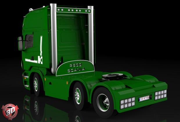 3D Scania R500 6x4 V8 Model