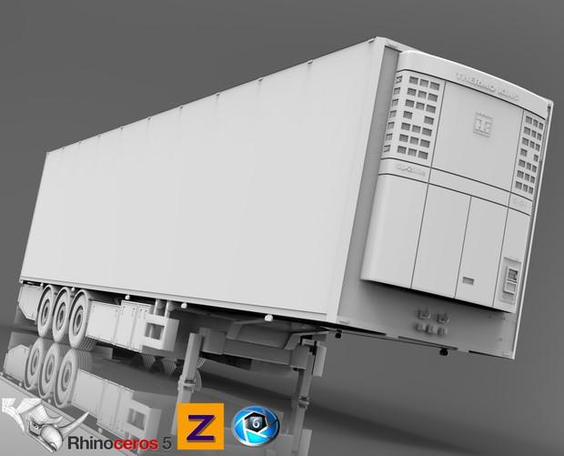 3D Narko Trailer FRC trailer model