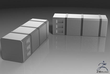 3D Squared Chromed Fuel Tanks Pack