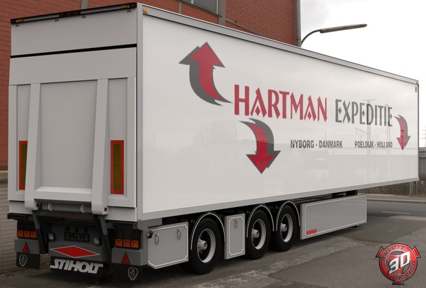 3D Hartman Expeditie Trailer Model