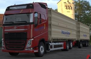 3D Volvo FH Tandem Grain Transport Combo Model 3D model