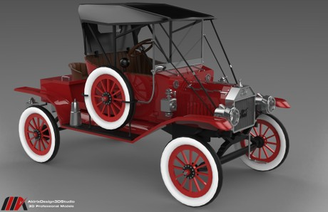 3D Ford T Model 12 Series Edition
