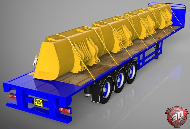 3D SDC Flatbed Cups Load