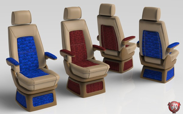 3D Truck Interior Seats Model Pack
