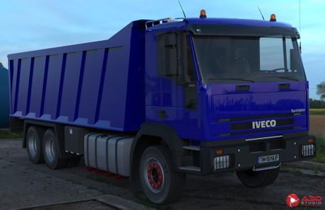 3D Iveco EuroTrakker Dumper Version