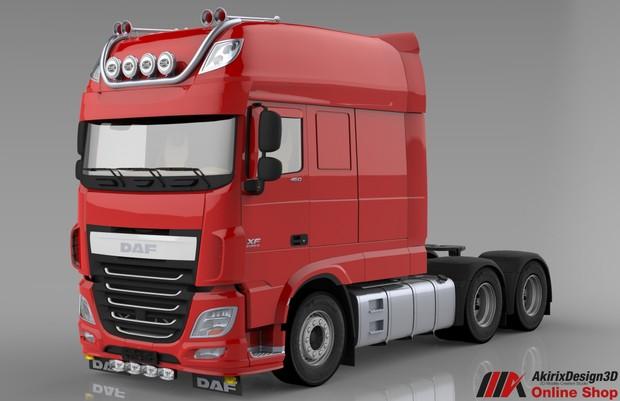 3d daf xf 106 longline model - akirixdesign3dstudio