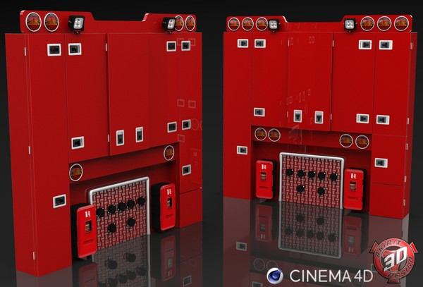 3D BackCabin Cabinets Pack