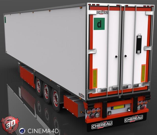 3D Chereau Trailer Model
