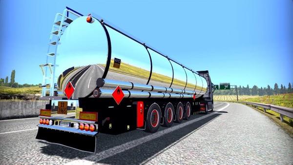 ETS2 Chromed Fuel Tanker Trailer SCS Model