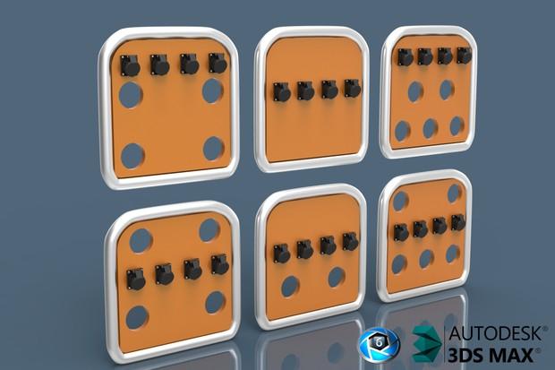 V2 3D Mini BackCabin Panels With Connectors