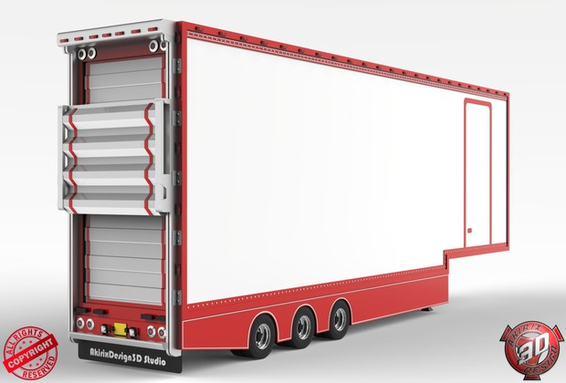 3D NewStyle DoubldeDecker Trailer V1