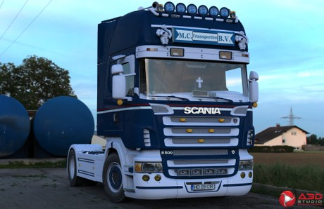 3D Scania R500 V8 4x2 MC Trans BV
