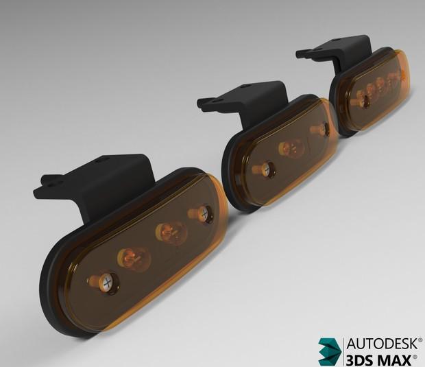 3D SideMarker Lights Model Pack