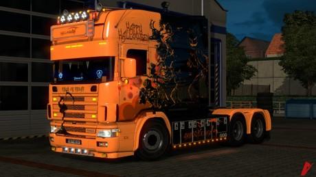 ETS2 Scania 164L 580 V8 Halloween Edition Model