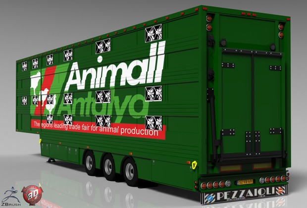 3D Pezzaioli Trailer Model