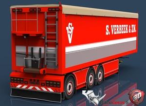 3D S.Verbeek Potato Trailer Model