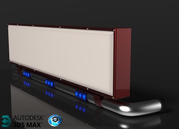3D Lightbox Truck Model