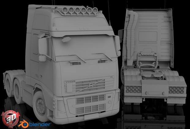 3D Volvo FH 6x2 Model