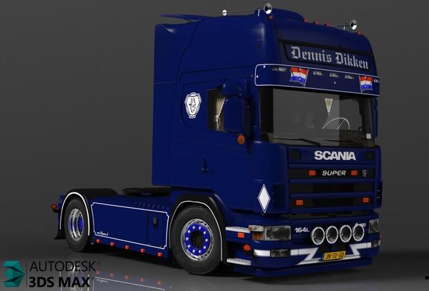 3D Scania 164L 480 V8 Model