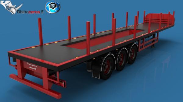 3D Model Coil Transport Trailer