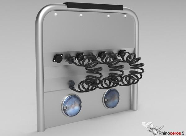 3D Backpanel Suzie Connectors Model