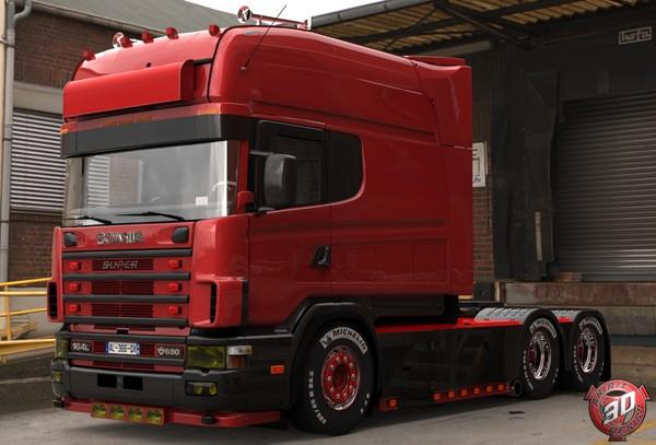 3D Scania 164L 580 V8 Longline