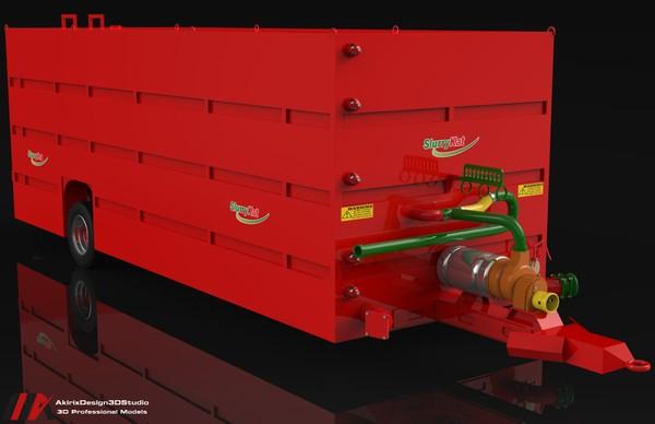 3D Slurry Kat Nursery Tanker 150m3 Trailer