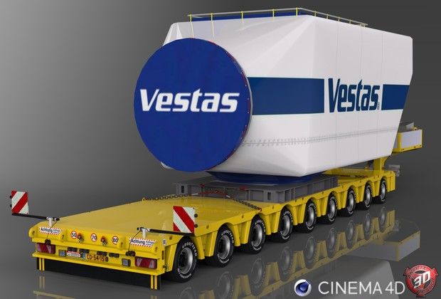 3D Doll Trailer 9 Axles Vestas Load