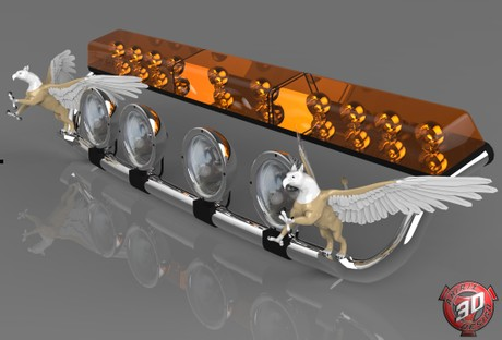 3D Griffin Lightbar Model