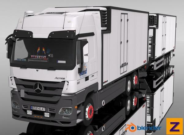 3D MB Actros MPIII FRC Tandem Combo Model