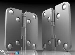 3D Door Hinge Model