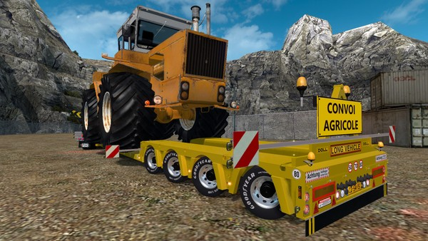 ETS2 4 Axled Doll Trailer With Raba Steiger Load Model