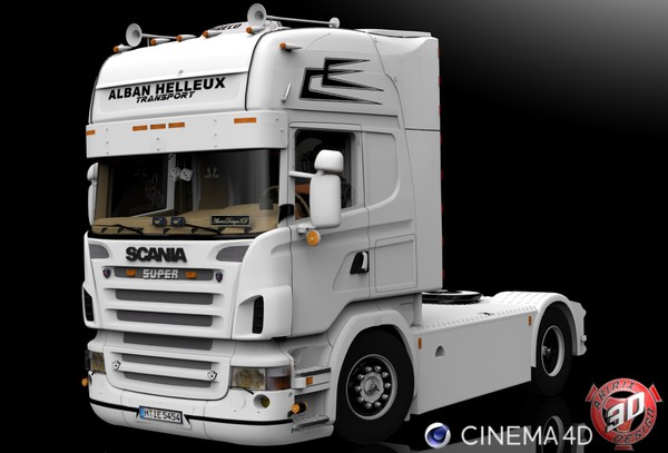 3D Scania R500 V8 Alban Helleux